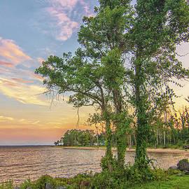 Sunset Along the Neuse River - Oriental North Carolina by Bob Decker