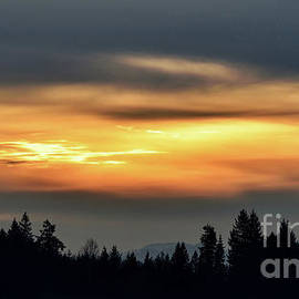 Sunset And Silhouettes - Grand Ronde - Oregon by Artistic Oregon Photo
