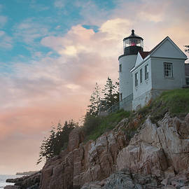 Sunset at Bass Harbor Lighthouse by Jeff Folger