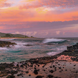 Sunset at Halona Cove by Steve Luther