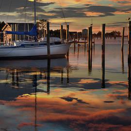 Sunset at Ocracoke Pier