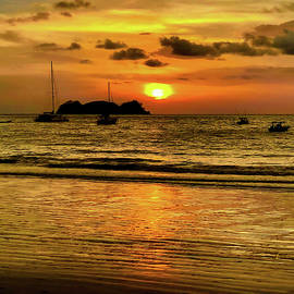 Sunset at Playa Hermosa II by Stephen Anderson