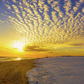 Sunset at Robert Moses State Park by Sandi Kroll