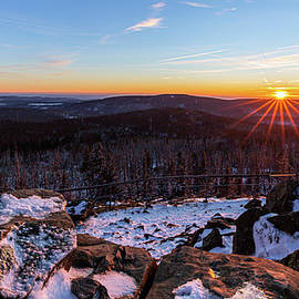 Sunset at the Achtermann, Harz by Andreas Levi