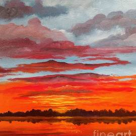 Sunset At The Lake by Lee Piper