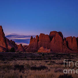 Sunset At The Outcrop by Bob Martin