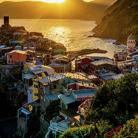 Sunset At Vernazza by Chris Lord