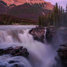 Sunset, Athabasca Falls, Jasper National Park, Alberta, Canada by Yves Gagnon