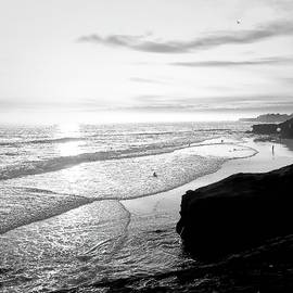 Sunset Beach in BW