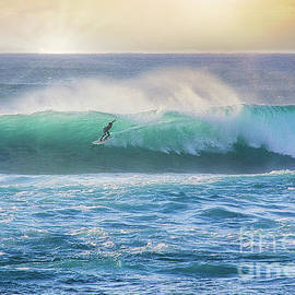 Sunset Beach Surf by Michele Hancock Photography
