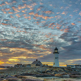 Sunset Bliss at Scituate Lighthouse by Juergen Roth