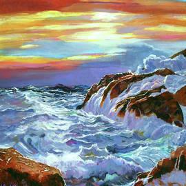 Sunset Coastline by David Lloyd Glover
