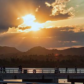 Sunset Dock by Portia Olaughlin