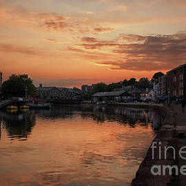 Sunset Exeter Quays by Lynn Bolt