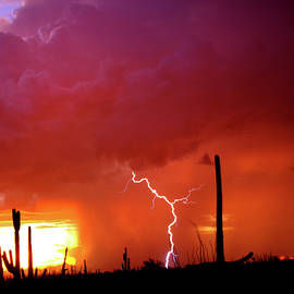 Sunset Fire And Rain by Douglas Taylor