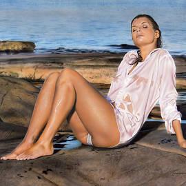 Sunset girl by Johannes Wessmark