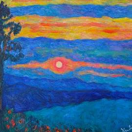 Sunset Glow on The Blue Ridge by Kendall Kessler