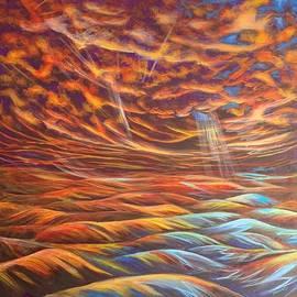 Sunset Harmony 36 x 36 by Tamara Kulish