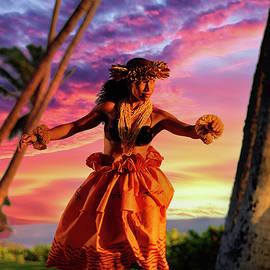 Sunset  Hula by James Roemmling