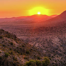 Sunset in Al Hajar Mountains by Alexey Stiop