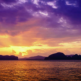 Sunset in Andaman Sea by Alexey Stiop