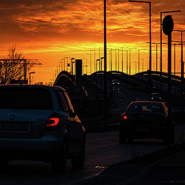 Sunset in Berlin by Ovidiu Adrian Bujor