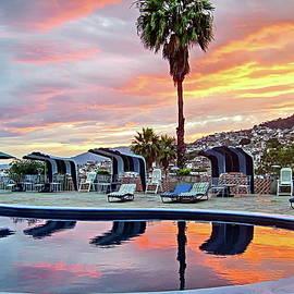 Sunset in City of Taxco, Mexico by Lyuba Filatova