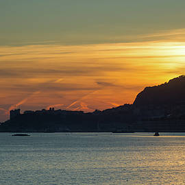 Sunset in Monaco from Cap Martin.