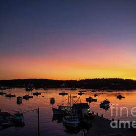 Sunset in Port Clyde, Maine by Diane Diederich