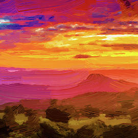 Sunset in Santa Rosa Digital Paint by Alexey Stiop