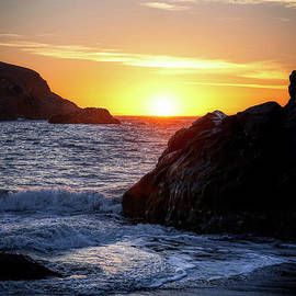 Sunset In Sea Stacks At Harris Beach by Michele Hancock