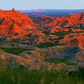 Sunset In The Badlands by David Hintz