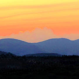 Sunset in the Blue Ridge Mountains by Susan Hope Finley