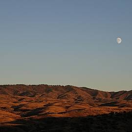 Sunset, Moon Rise, Mountains by Bobbie Moller