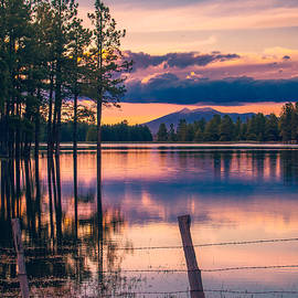 Sunset on a Forest Lake by Bonny Puckett