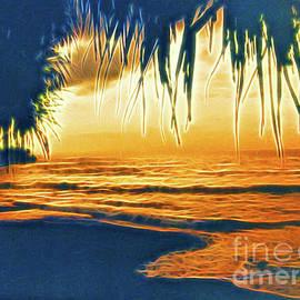 Sunset on Bali by Jerome Stumphauzer
