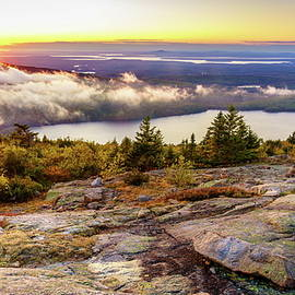 Sunset on Cadillac Mountain by Alexey Stiop