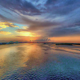 Sunset on The Marco River by Debra Kewley