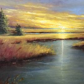 Sunset on the Marsh by Carole E Raymond