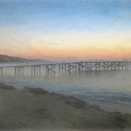 Sunset on the Pier by Teresa Wilson