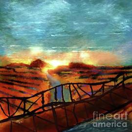 Sunset on the Rio Grande by Michelle Ressler