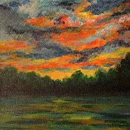 Sunset on the Water by Annette Laurel Batchelor
