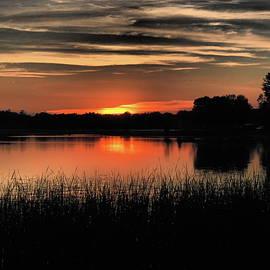 Sunset over Bush Lake by Tom Halseth