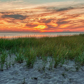 Sunset Over Corn Hill Beach by Karen Regan