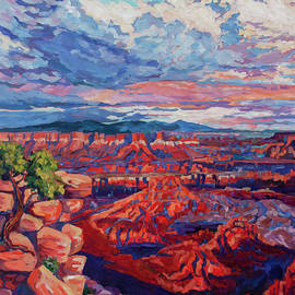 Sunset over Dead Horse Point by Heather Nagy