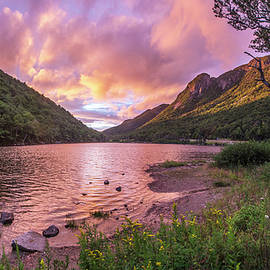 Sunset Over Profile Lake by Chris Whiton