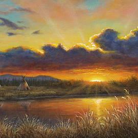 Sunset Over Sacred Land by Kim Lockman