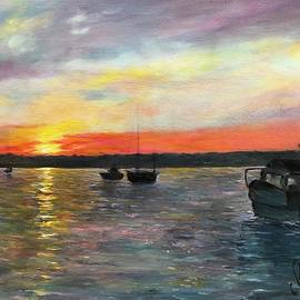 Sunset Over The Bay by Anne Barberi