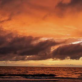 Sunset Over The Gulf Of Mexico 2 by John Trommer
