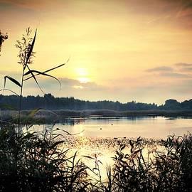 Sunset Over the Lake by Slawek Aniol